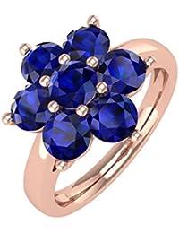 14K Gold Blue Sapphire Star Form Engagement Ring (11/2Karat)