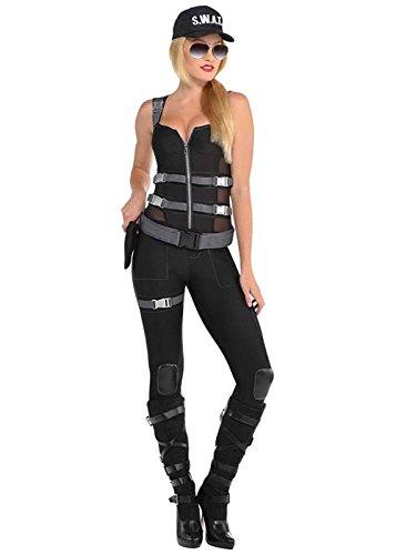 Gefährliches SWAT Kostüm der Frauen Small (UK 8-10) (Kostüm Swat Box)