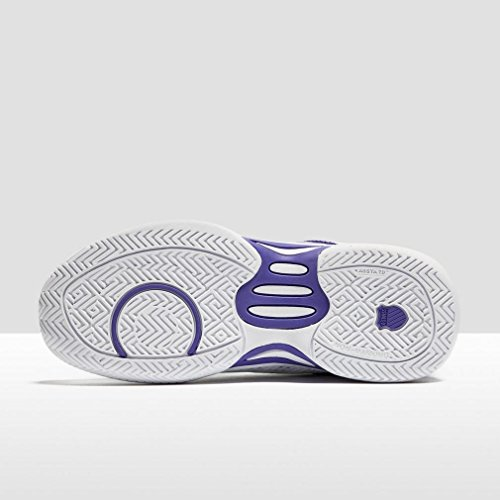 K-Swiss Performance Express Light, Scarpe da Tennis Donna, Bianco / Viola Bianco (White/purple/orange)