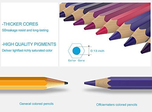officematters 48 Lápices de Colores para Libros de Colorear para ...