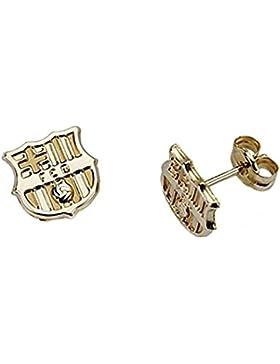 Ohrringe abschirmen F.C. Barcelona glatt Feingold 9k [6553] - Modell: 0510-048-L