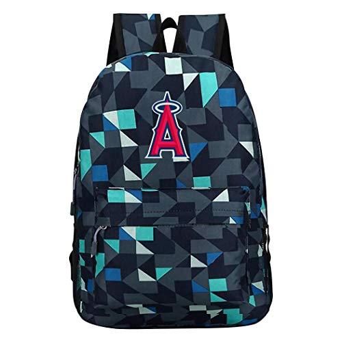 XKYZTKB Los-Angeles-Angels 3D-Bedruckte Schulbuch-Tasche für Jungen Mädchen, Blaue Esche, Einheitsgröße
