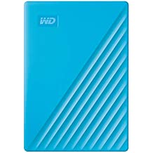 WD 4TB My Passport Portable External Hard Drive, Blue - with Automatic Backup, 256Bit AES Hardware Encryption & Software Protection