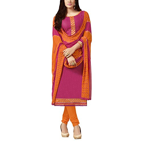 Applecreation-Pink-Camric-Cotton-Dress-Material-With-Unstitched-Dupatta