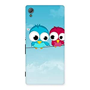 Stylish Birds on Wire Back Case Cover for Xperia Z3 Plus