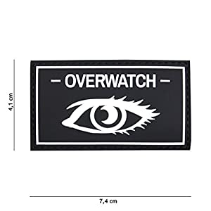 Patch 3D PVC Overwatch Noir / Cosplay / Airsoft / Camouflage …