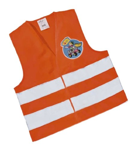 Rolly Toys 558698 rollySavety vest | Warnweste für Kinder | Sicherheitsweste orange