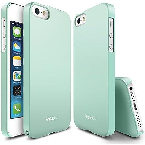Funda iPhone SE / 5S / 5, Ringke [SLIM] ajuste en el mango [Los recortes adaptados] Cubierta ultra-delgado superior de revestimiento duro para Apple iPhone SE 2016 / 5S 2013 / 5 2012 - LF Mint