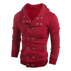 Men Jackets Longra® Men Fashion Cotton Blend HOOEDE UNIQUE BUTTON DESIGN * *Sweater Top ! by Longra®