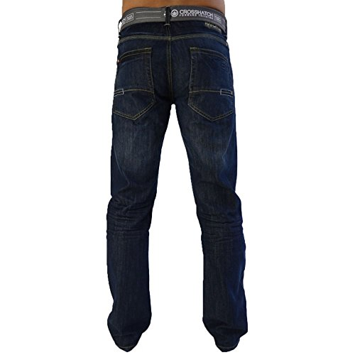 Jeans Crosshatch New Embossed Techno SW Darkwash