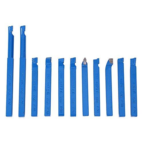 11 pz 8 * 8mm Tornio Tool Bit Set Tornio Scalpello Kit Tornio Utensili Tornio Conico Saldato Saldatura Utensile Da Taglio Set