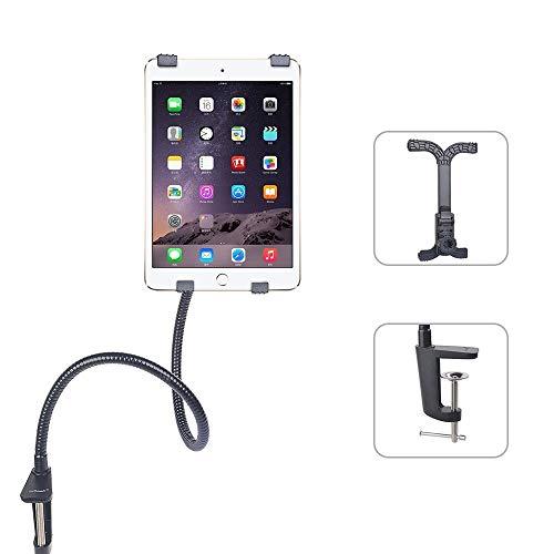 iPad soporte tablet soporte de cuello de cisne–ieGeek 360Degree rotación Flexible ajustable soporte para manos libres perno abrazadera universal para iPad Mini iPad 2/3/4, iPad 5/iPad Air/iPad Pro, Samsung Galaxy Tab S2/Tab A/Tab Pro/Tab 3, Google Nexus y otras tablets de 7'-11(negro)