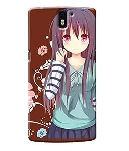 Fuson Flower Girl Back Case Cover for ONEPLUS ONE - D3772