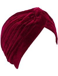 Toocool - Turbante donna cuffia retro fascia ciniglia cappello pieghe caldo  nuovo BE-1757 a4109c2edb99