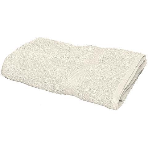 Towel City Luxury Range–Toalla de baño, hombre, crema