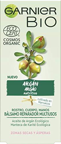 Garnier BIO Bálsamo Reparador con Aceite de Argán y Manteca de Karité Ecológicos y Vitamina E - 2 de 50 ml. (Total: 100 ml.)