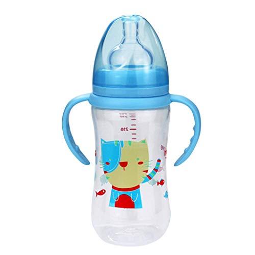 Babyflaschen Set Erstausstattung Fürs Baby Original Marken-Trink-Flasche Für Klein-Kinder Baby Bottle Pwtchenty Babyflasche BPA-Frei (Blau)