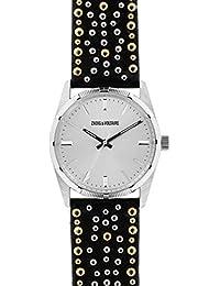 Reloj Mixta Zadig & vortaire de cuarzo reloj plateado 36mm y pulsera dorado piel & acero zvf402
