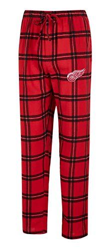 Concepts Sport Herren NHL-Homestretch-Plaid Schlafanzug Pyjamahose mit Taschen, Herren, Detroit Red Wings, X-Large Plaid Overlay