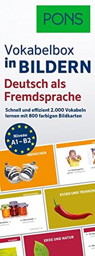 PONS Vokabelbox in Bildern Deutsch als Fremdsprache: Schnell & effizient Vokabeln lernen mit 2.000 Wörter auf 800 farbigen Bildkarten