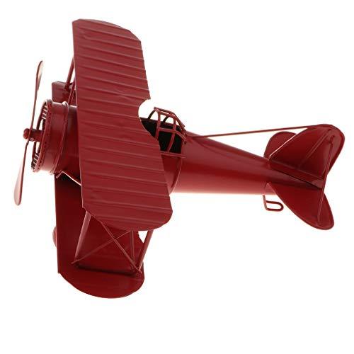 B Blesiya Vintage Flugzeugmodell Flugzeug Spielfigur Spielzeug Dekoration für Haus Büro Hotel usw. - Rot