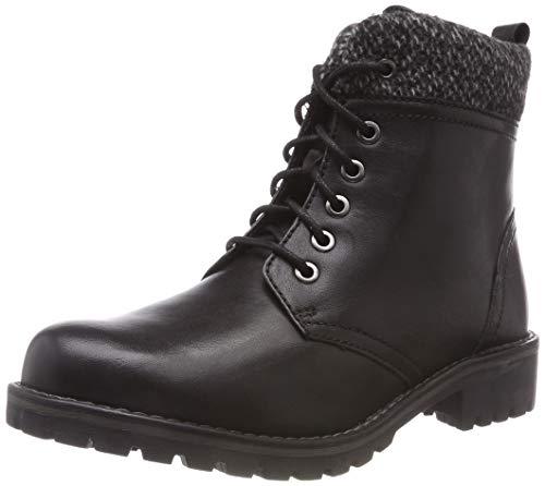 Marco Tozzi Premio Damen 2-2-26284-31 096 Combat Boots, Schwarz (Black Ant.Comb), 41 EU
