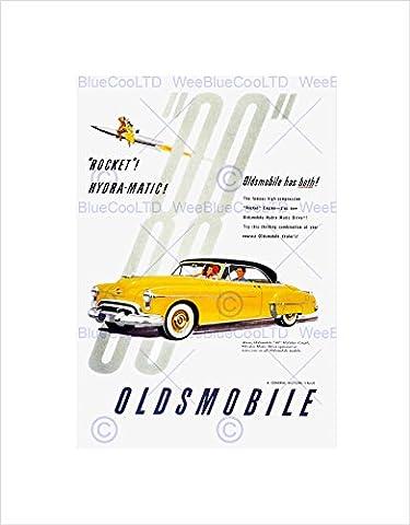 VINTAGE ADVERT TRANSPORT CAR CLASSIC OLDSMOBILE FRAMED ART PRINT MOUNT B12X11566