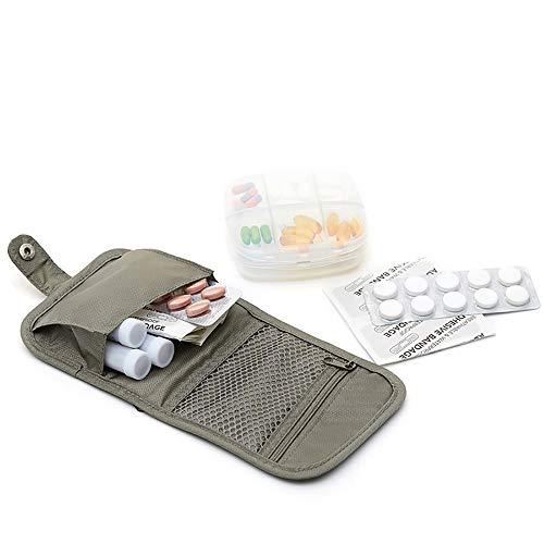 Pillendose Klein,SPEUTO Pille 6 Compartment Travel Travel Reise-Paket für medizinische Medizin Erste-Hilfe-Ausrüstung mit großer Kapazität Aufbewahrungsbox sein