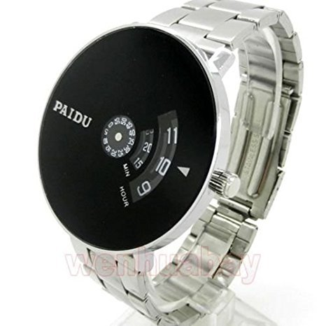 VILAM Analogue Turntable Silver And Black Dial Men's Watch - ANisuhi876