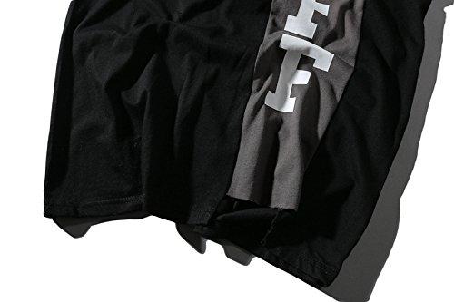 BOMOVO Herren OFF WHITE Oversize T-Shirt Rundhals Basic Shirt LN6281 Schwarz