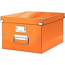 Leitz Caja de almacenamiento mediana A4, Naranja, Click and Store, 60440044
