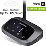 [Premium Version] Avantree Oasis Plus aptX HD HOHE REICHWEITE Bluetooth Transmitter Receiver für TV Audio, Home Stereo, Optisch kabelgebunden & Wireless gleichzeitig, DUAL LINK LOW LATENCY [2 Jahre Garantie]