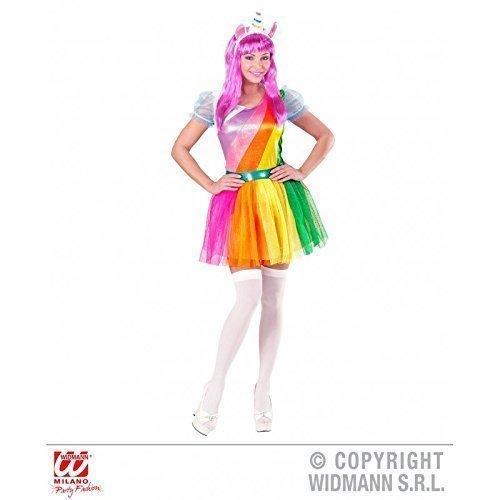 Lively Moments Kostüm Einhorn für Damen / Kleid und Horn auf Haarreif / Märchen Damenkostüm Fasching Gr. L = 42