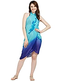 SOURBH Women's Beach Wear Wrap Natural Printed Sarong Pareo Swimsuit Cover up (S101A_with Color Option)