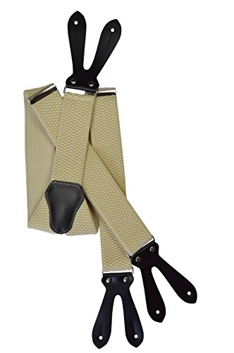 Button-Down Extra Wide Formal Dress Suspenders/Braces, 4cm