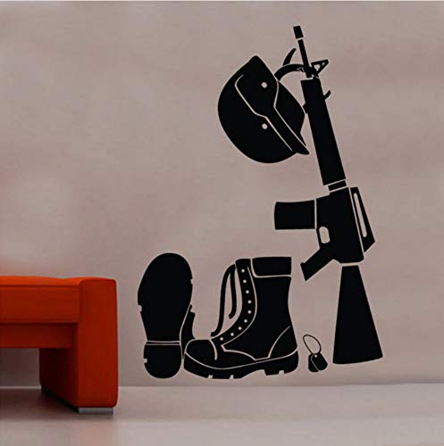 The Soldiers Kit Wall Sticker Home Decor Living Room Removable Vinyl Wall Decal Shoes Helmet Teen Boys Room Decorate 56x80cm