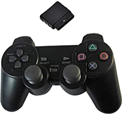 PS2 WIRELESS CONTROLLER -BLACK