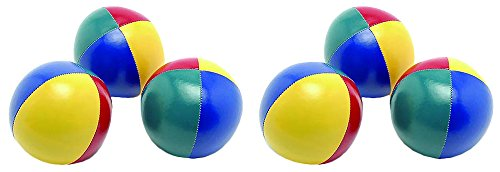 SAHNI SPORTS Non-Woven-Fabric Juggling Ball, Set of 6, Multi-Color  available at amazon for Rs.649