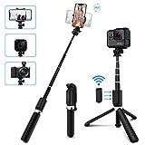 SYOSIN Perche Selfie, 4 en 1 Bluetooth Selfie Stick Trépied avec Télécommande,...