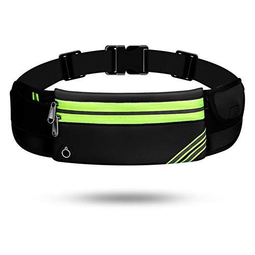 Lauftasche für Handy, Laufgürtel Schlüssel Hüfttasche, Sport Jogging Fitness Gürtel iPhone 6 7 Plus + Samsung Galaxy S7 Edge S8 + Plus Huawei HTC ZTE UVM. (B,Zweilagiger Reißverschluss)