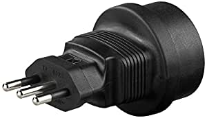 Wentronic Adaptateur prise France ITALIE Voyage Terre FR IT ITALY PLUG CEE 7/4