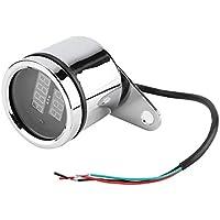 Nikou Tacómetro, 2 en 1 LED de la Motocicleta voltímetro Digital del Metal del calibrador del tacómetro del velocímetro del odómetro