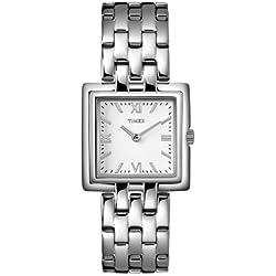 Timex - T2N001Pf - Analogue Quartz - Ladies Watch - Silver Steel Box - Silver Steel Strap