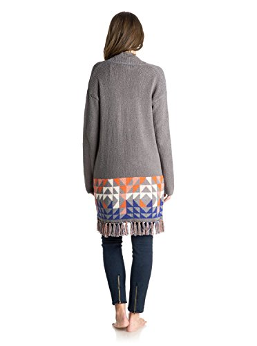 Roxy Damen Strickjacke Sweater Near Future Grau (Charcoal Heather)