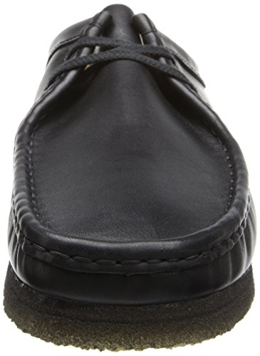 Clarks Wallabee Shoe Black Leather
