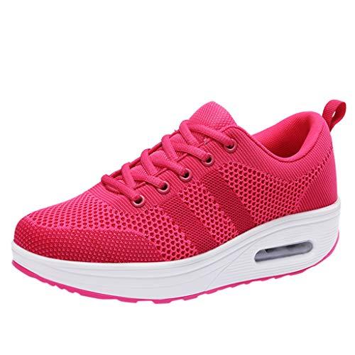 UOMOGO Donna Scarpe da Ginnastica Corsa Basse Scarpe Sportive Confortable Fitness Running Sneakers Casual all'Aperto 35-40EU