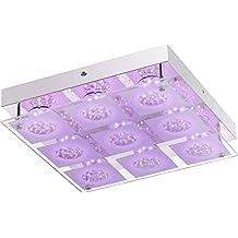 LED Deckenlampe Mit Fernbedienung Dimmbar Schlafzimmerlampe RGB Farbwechsel 33 Cm Deckenbeleuchtung Flurlampe Wohnzimmerlampe