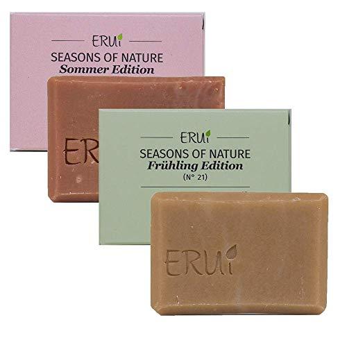 ERUi® 2x Bio Naturseife Set Frühling &
