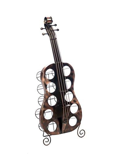 aubaho Flaschenregal Cello Kontrabass 101cm Flaschenständer Flaschen Ständer Weinregal