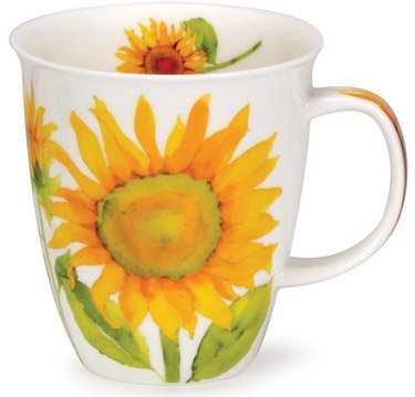 Dunoon Nevis Fine Bone China Mug - Flora Sunflower by Dunoon -